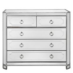 Simplicity Mirrored 5 Drawer Hall Chest from Z Gallerie $999  Dimensions 40''W x 20''D x 36''H
