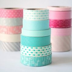 I know I am late jumping on the Washi tape wagon, but I need me some ... esp these pretty lovelies.