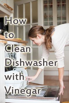 Easy way to Clean Your Dishwasher with Vinegar plus other helpful cleaning tips with vinegar!