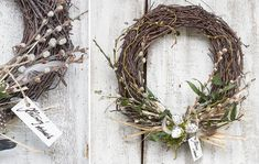 Easter natural wreaths