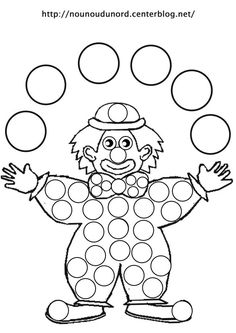 Coloriage clown jongleur dessiné par nounoudunord - Ð¡ Крещенским СочеРClown Crafts, Circus Crafts, Craft Activities, Preschool Crafts, Drawing For Kids, Art For Kids, Fairy Wings Costume, Theme Carnaval, Diy And Crafts
