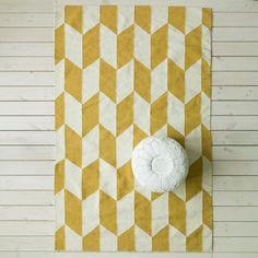 Kora Rug in Yellow & White - Rugs & Animal Skins - Wall & Floors - Home Accessories