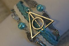 Triangle Charm bracelet snitch Jewlery Friendship by HotDecor