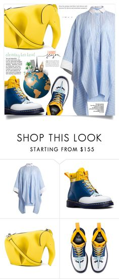 """""""Travel in style"""" by dolly-valkyrie ❤ liked on Polyvore featuring palmer//harding, Dr. Martens and Loewe"""
