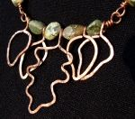 Agate and Copper Necklace  -  Leaves