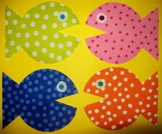 Fabric Applique TEMPLATE ONLY Little Fishy Fishies by etsykim