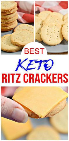 5 ingredient keto crackers that taste AMAZING! These low carb Ritz crackers came out so good! They really taste like Ritz crackers. Easy keto recipe for the… Keto Crackers Recipe, Low Carb Crackers, Homemade Crackers, Butter Crackers, Homemade Breads, Keto Cookies, Shortbread Cookies, Chip Cookies, Easy Snacks