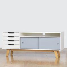 Joachim AV Unit: Think of Joachim as the perfect AV Unit bridge between tech and taste for your modern living room.