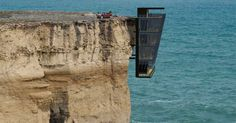 No. Nope. Never. --- Hold onto your hat, don't look down and prepare for vertigo. The edgy concept home, known as Cliff House by Modscape, is taking design up a level.