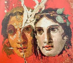 This small painting decorated the center of the west wall of the oecus (formal dining room) at the House of the Golden Bracelet in Pompeii.