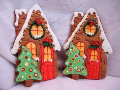 "Such ""cozy""  gingerbread house cookies"