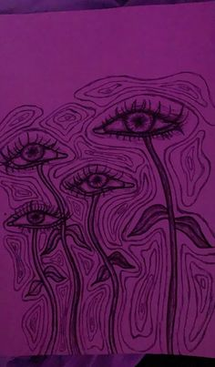 Trippy Drawings, Psychedelic Drawings, Cool Art Drawings, Drawing Sketches, Arte Grunge, Arte Indie, Hippie Painting, Trash Art, Arte Sketchbook