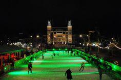 Ice-skating at Museumplein Amsterdam