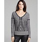 DIANE von FURSTENBERG Sweater - Angel Soft and Cozy Stripe
