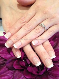 White acrylic French tips… absolutely love these!!