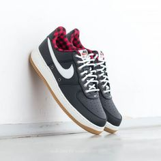Nike Air Force 1 ´07 LV8 Black  Sail-Action Red-Gum Light za 2 990 Kč 6f65966a21