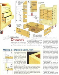 #324 Slant-Front Tool Cart Plans - Workshop Solutions