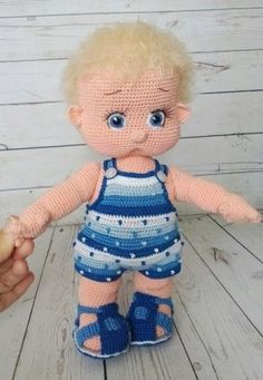 Best 11 PLEASE NOTE! That this is a pattern only – not a finished project! ******************************** This pattern is written in English language (USA terminology Crochet Doll Pattern, Crochet Dolls, Crochet Baby, Knit Crochet, Knitted Bunnies, Doll Tutorial, Amigurumi Toys, Doll Crafts, Amigurumi Patterns