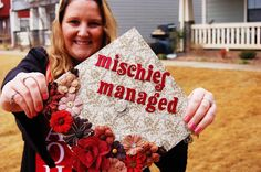 graduation cap harry potter mischief managed grad cap design