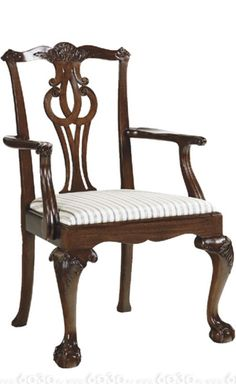 One of my favorite styles. Chippendale Chairs, Georgian Homes, Home Furnishings, Armchair, Sweet Home, Arms, Interior Design, Antiques, Furniture