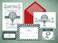 Striped invitation suite by @Rachel Wiles featured in @Carol Henry Wedding Guide (National)