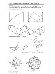 Origami Spiked Icosahedron Instructions