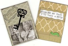 "Clever Swap - ""A Ruler and A Ruler"" - We had to make 2 ATC's.  I got ""I Have the Key"" and ""Give Me an Inch"" from Nancy in PA"
