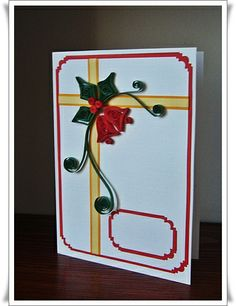 • Sweet Handmade •: My first Christmas quilling cards