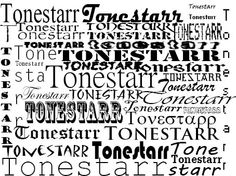 tonestarr in different font styles