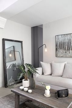 great mirror and floor lamp