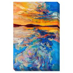 @Overstock - Sunset on the Water Oversized Gallery Wrapped Canvas - Artist: Boyan DimitrovTitle: Sunset on the WaterProduct type: Gallery-wrapped canvas art    http://www.overstock.com/Home-Garden/Sunset-on-the-Water-Oversized-Gallery-Wrapped-Canvas/7894034/product.html?CID=214117  $133.64