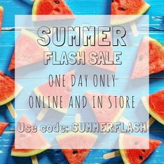 Happy first day of Summer! Use this code today online or in store for 20% off your purchase!