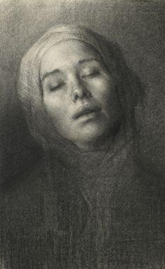 Hege Elisabeth Haugen (charcoal on paper)