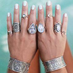 GypsyLovinLight: wearing Indie + Harper Jewels + Sienna Byron Bay nail polish