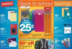 Staples Back To School Sale/Deals Through September 8, 2012 http://www.frugallivingandhavingfun.com/2012/09/staples-back-to-school-saledeals-through-september-8-2012/