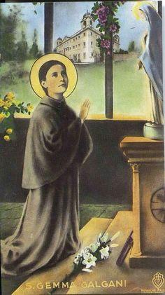 St Gemma Catholic Saints, Roman Catholic, St Gemma Galgani, Blessed Mother Mary, Religious Art, Lucca, Madonna, Mystic, Prayer