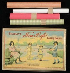 "Bradley's Tru-Life Paper Dolls came with paper ""fabric"" in different patterns.  1916.  Courtesy, The Winterthur Library: Joseph Downs Collection of Manuscripts and Printed Ephemera."