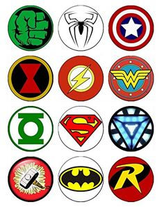 12 EDIBLE Superhero Cupcake Toppers, superheroes, super hero, spiderman cupcake toppers, batman cupcake toppers, hulk cupcake ABC Images http://www.amazon.com/dp/B00WP4U68A/ref=cm_sw_r_pi_dp_rwnBvb0DTMFY6