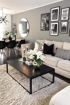 Living Room Ideas 2019, Casual Living Rooms, Comfortable Living Rooms, Paint Colors For Living Room, Living Room Modern, Paintings For Living Room, Elegant Living Room, Decorating Ideas For The Home Living Room, Interior Design For Small Living Room