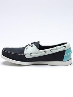Mint + Grey Boat Shoes / Sebago