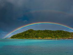 Colours everywhere: Rainbow photos from around the world : Ofu Island, Manu'a, American Samoa Bahia Honda State Park, Rainbow Photo, Ocean Beach, Science And Nature, Optical Illusions, Palermo, Amazing Nature, Water Features, Where To Go