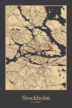 Stockholm, Sweden Map Print
