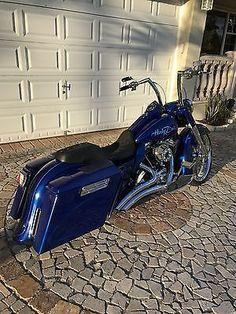 eBay: 2013 Harley-Davidson Touring 2013 Harley Davidson Road King (Ex Police Bike) Custom Bagger #harleydavidson