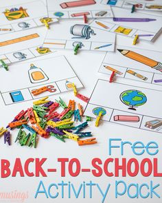 fun free printable matching games will keep preschoolers busy as their older siblings head back to school. Whether homeschool or traditional, kids will love this fun activity pack! Creative Activities For Kids, Printable Activities For Kids, Back To School Activities, Learning Activities, Preschool Activities, Free Printables, Creative Kids, School Pack, School Fun