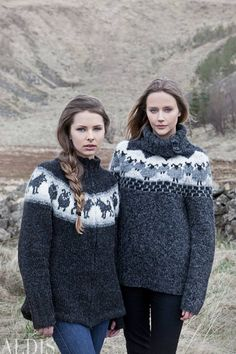 Álafoss - since Icelandic knitting yarn, Icelandic wool sweaters, Icelandic design and souvenirs at a reasonable price - world wide shipping. Fair Isle Knitting Patterns, Knitting Designs, Knit Patterns, Knitting Ideas, Icelandic Sweaters, Wool Sweaters, Loom Knitting, Free Knitting, Lana