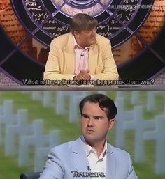 Jon Richardson, David Mitchell and Jimmy Carr are by far my favorite in panel shows. Best Funny Pictures, Funny Images, Funny Photos, Funniest Photos, Memes Humor, Funny Jokes, Tv Memes, Car Humor, Jimmy Carr