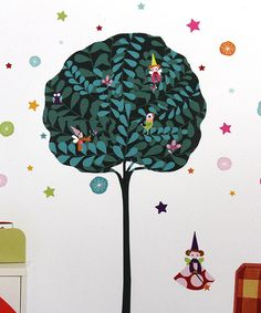 Nouvelles Images Fairy Tree Wall Decal Set