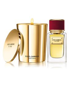 Dolce & Gabbana is launching four scented candles as part of its luxury Velvet perfume collection. The fragrances - Velvet Sublime, Velvet. Dolce And Gabbana Fragrance, Dolce Gabbana, Scented Candles, Candle Jars, Candle Holders, Soy Candle, Gold Candles, Luxury Candles, White Candles