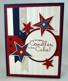 Red white and blue bday card, but possible wedding invitation?