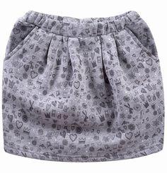 """Spódnica bombka z kieszeniami dla dziewczynki. Kolekcja: """"Z głową w chmurach"""" Boho Shorts, Girls, Women, Fashion, Simple Lines, Toddler Girls, Moda, Daughters, Fashion Styles"""